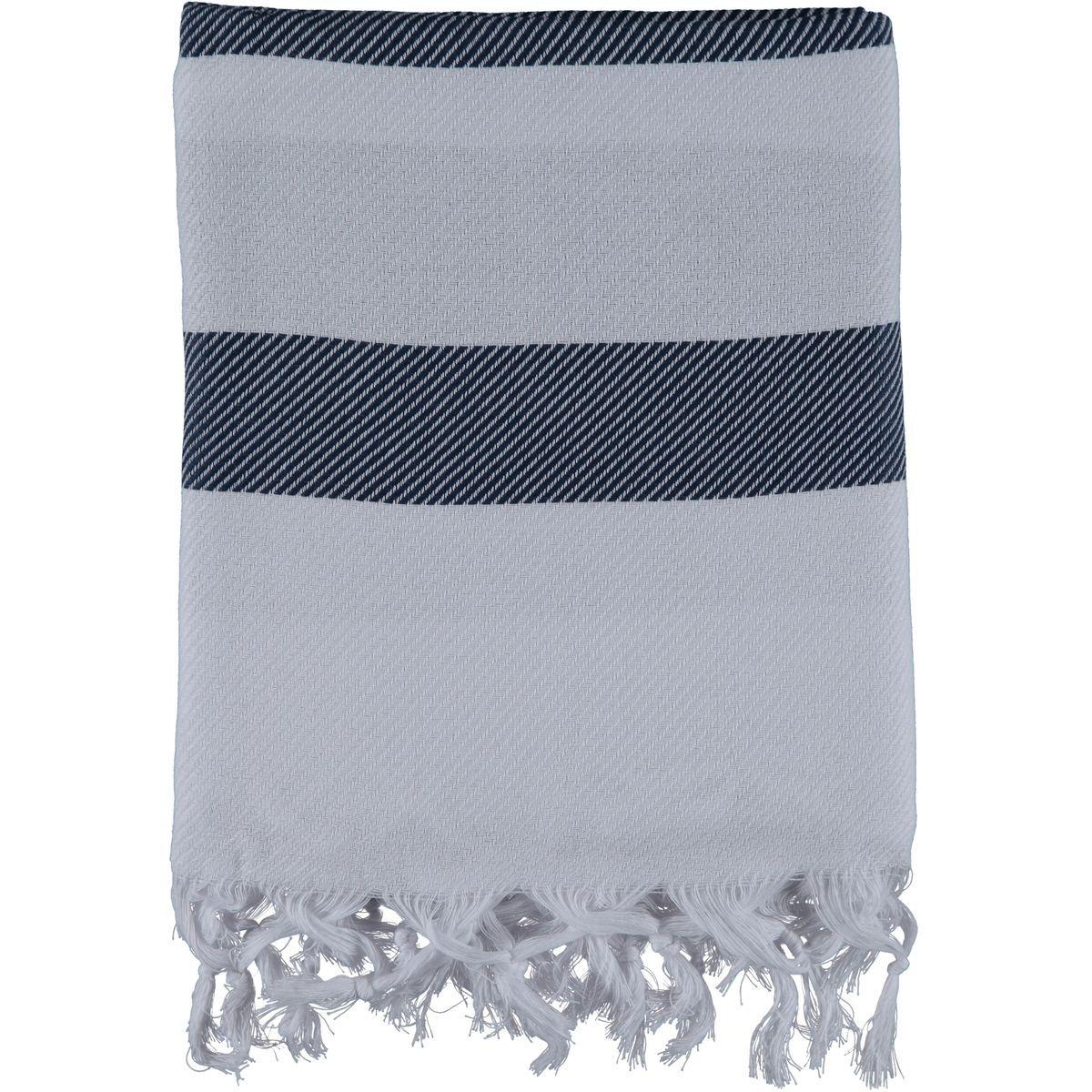 Peshtemal / Towel Soho - White / Navy