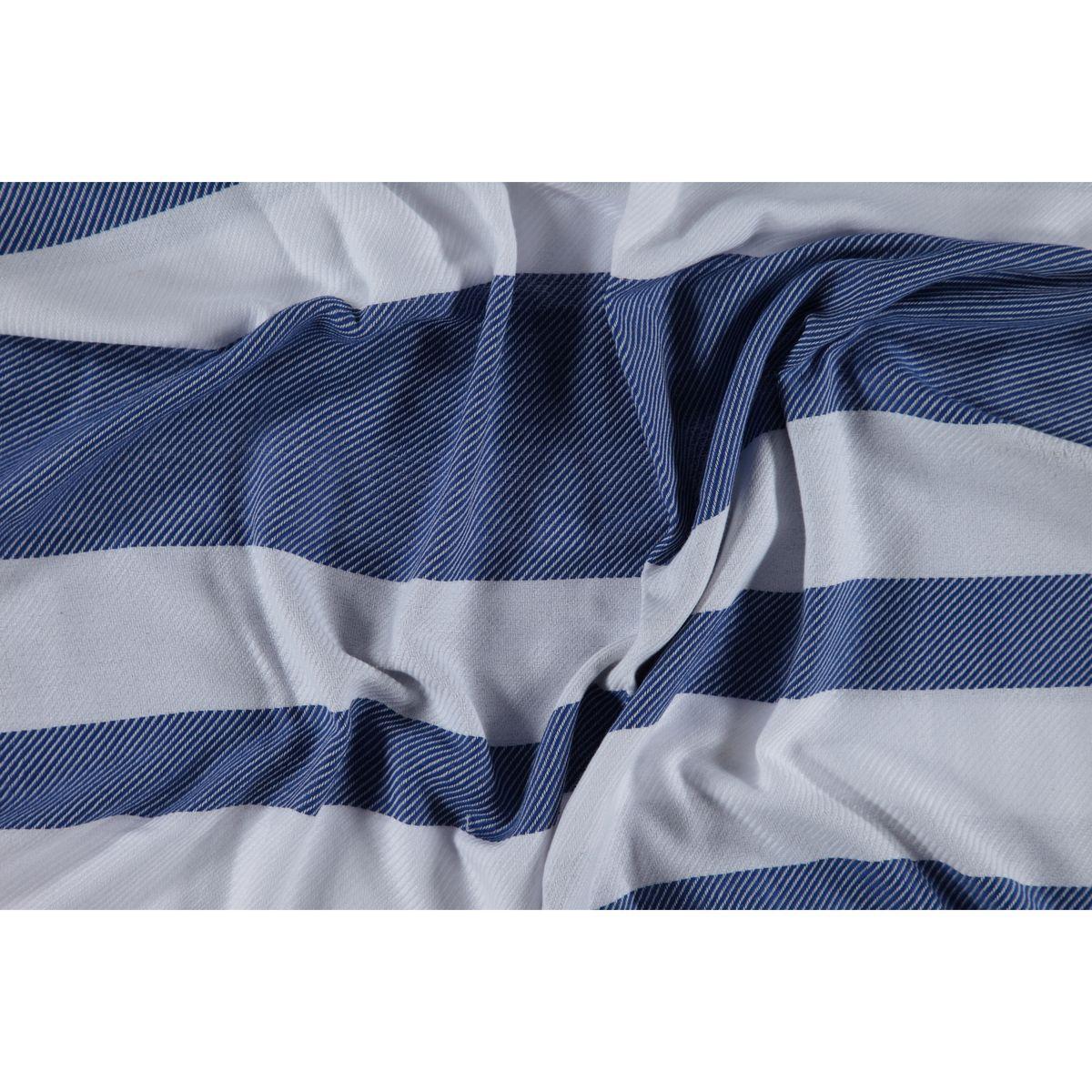 Peştemal - Havlu Soho / Beyaz - Royal Mavi