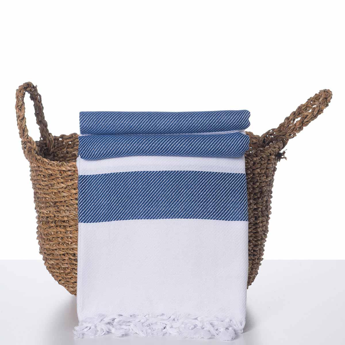 Throw Soho - White / Royal Blue