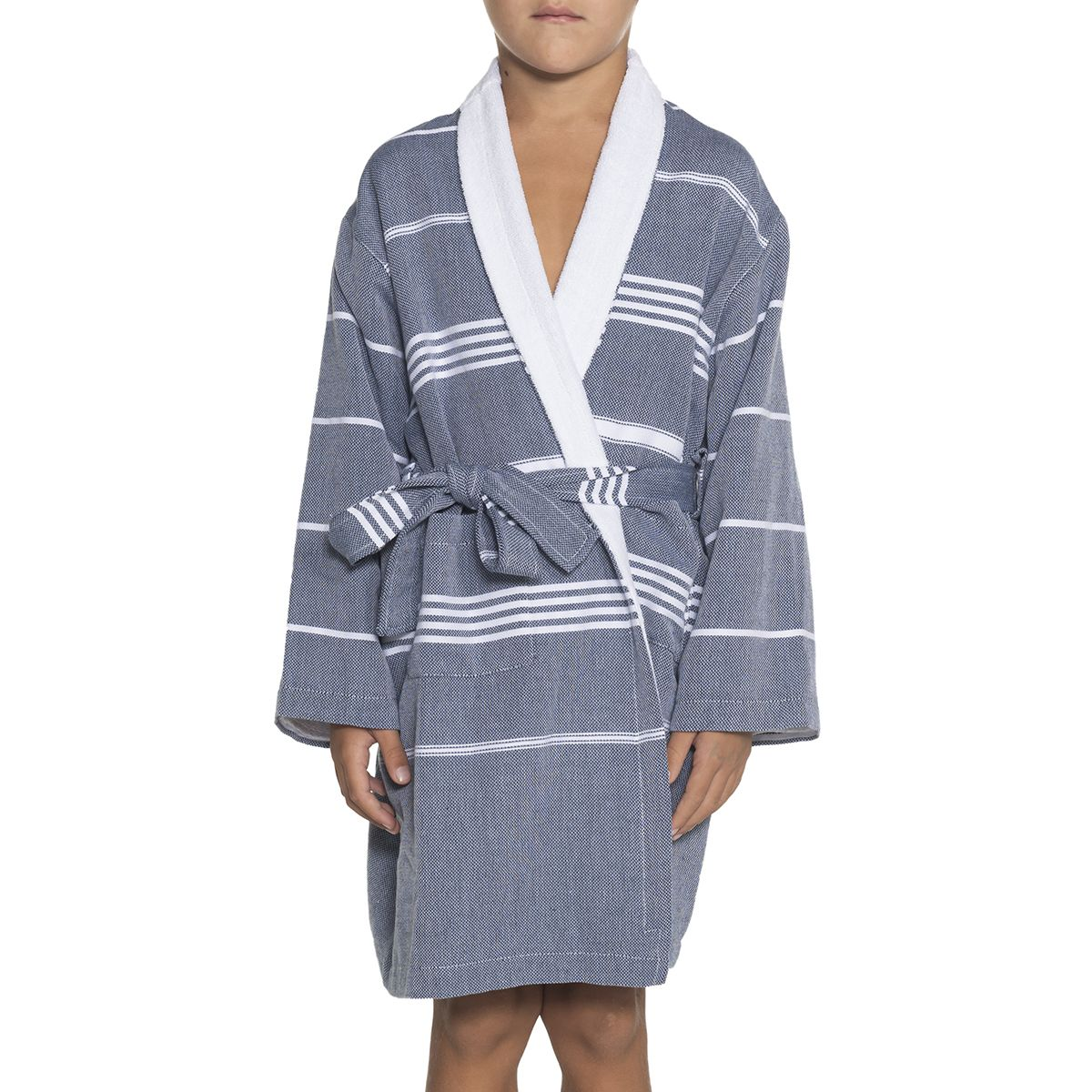 Bathrobe Leyla Kiddo Terry - Navy