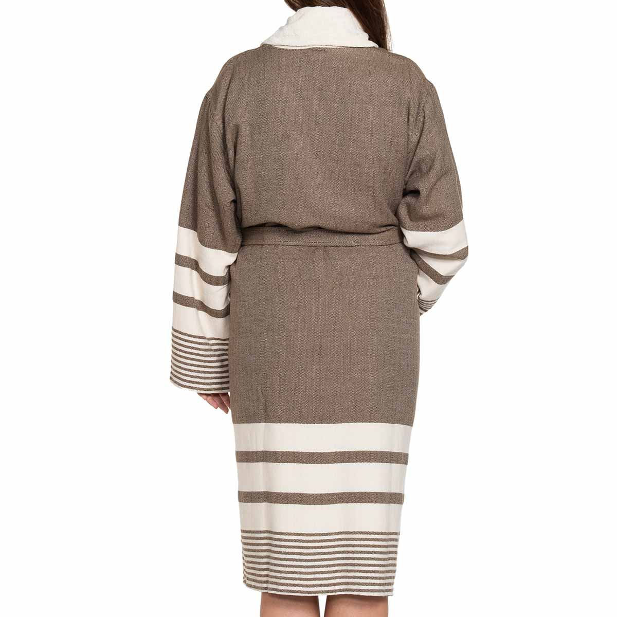 Bathrobe Tabiat with towel - Khaki
