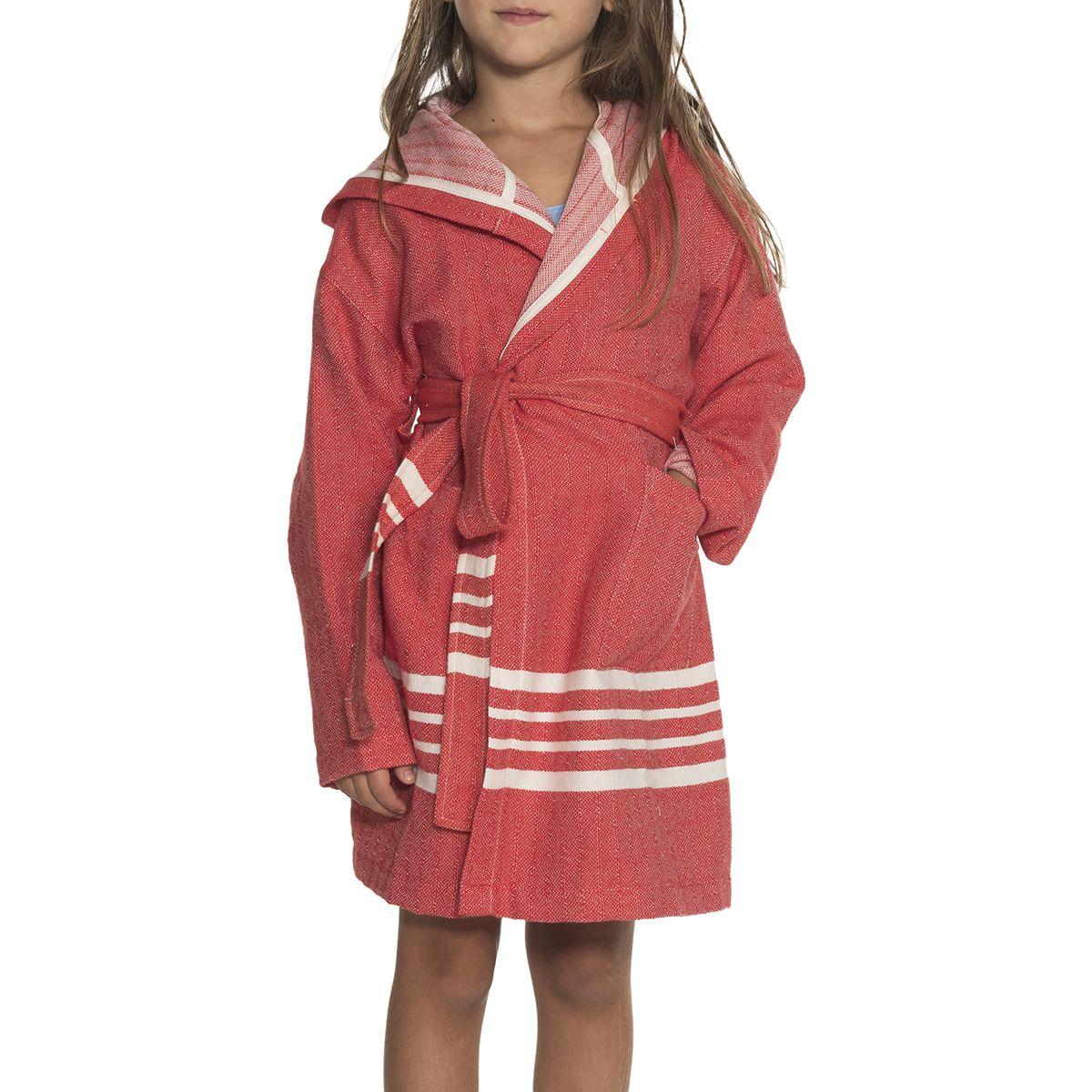 Bathrobe Kiddo with hood - Red
