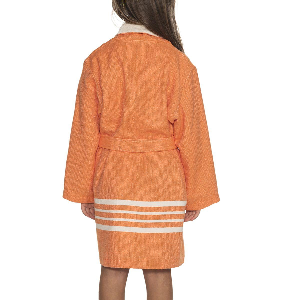 Bathrobe Kiddo Terry - Orange