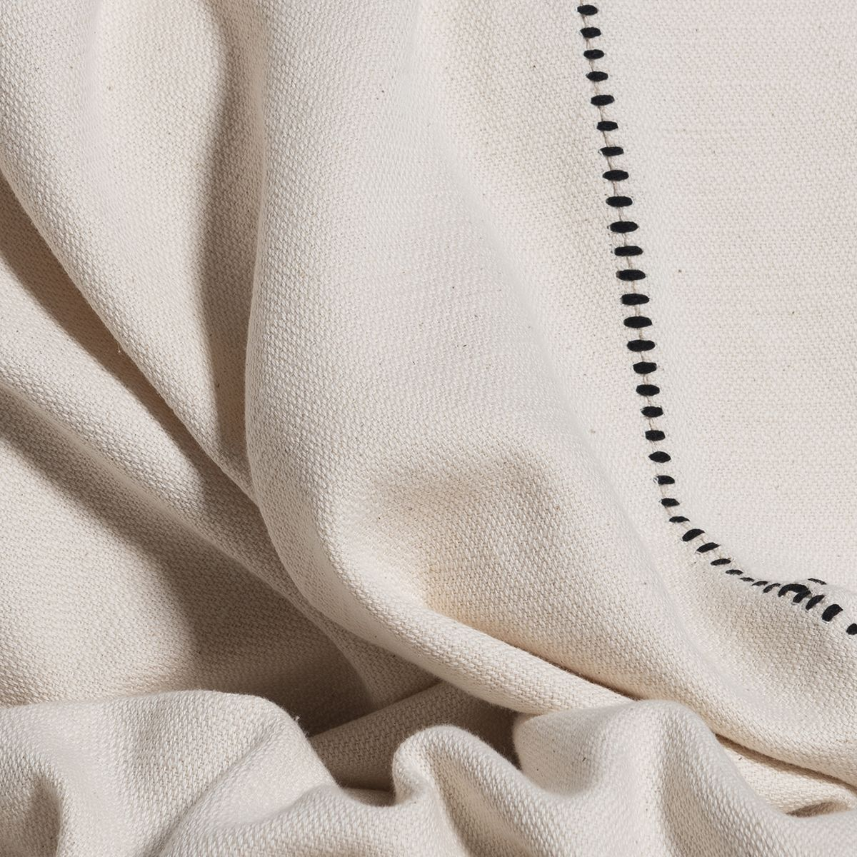 Throw / Patchwork - Unsymmetrical / Black Stitched