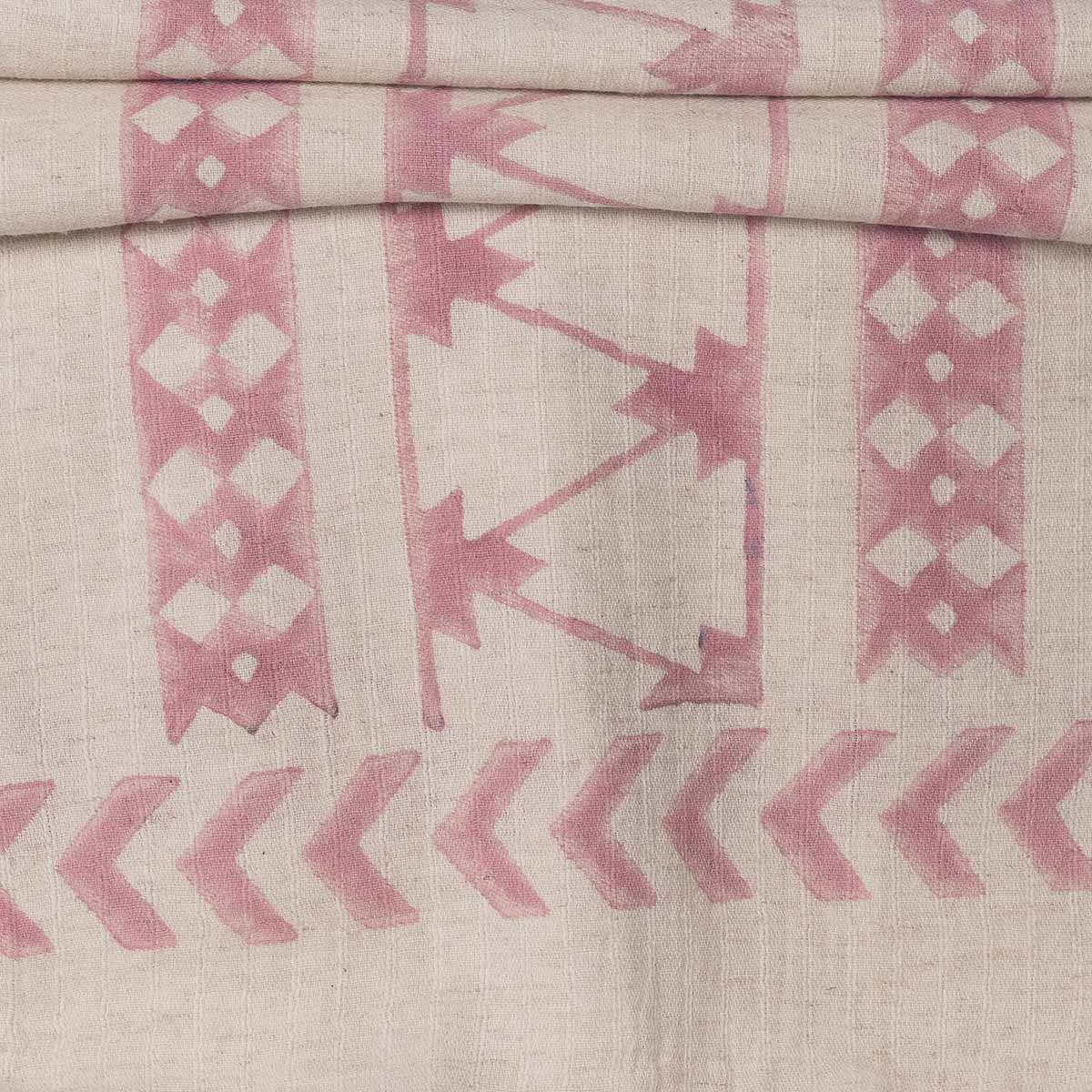 Throw / 06 Hand Printed - Dusty Rose