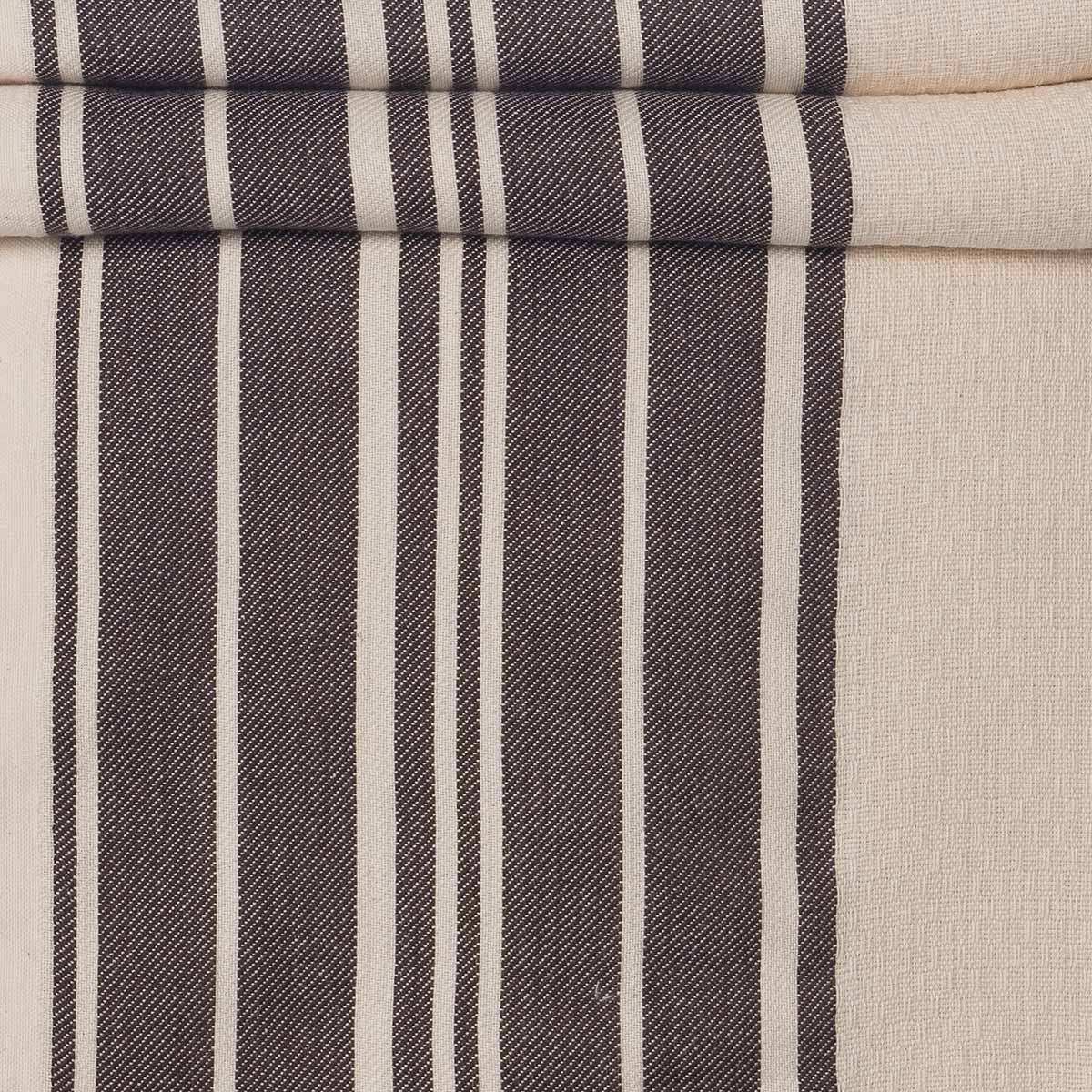 Throw Mykonos - Brown Vertical Stripes