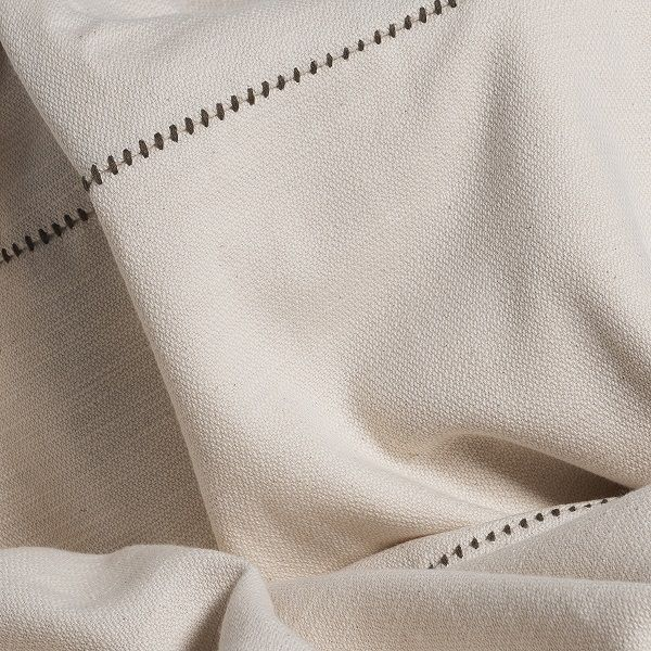 Throw / Patchwork - Unsymmetrical / Khaki Stitched