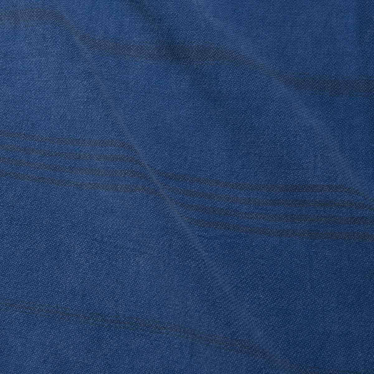 Peshtemal Devrim - Royal Blue / Dark Grey (StoneWashed)