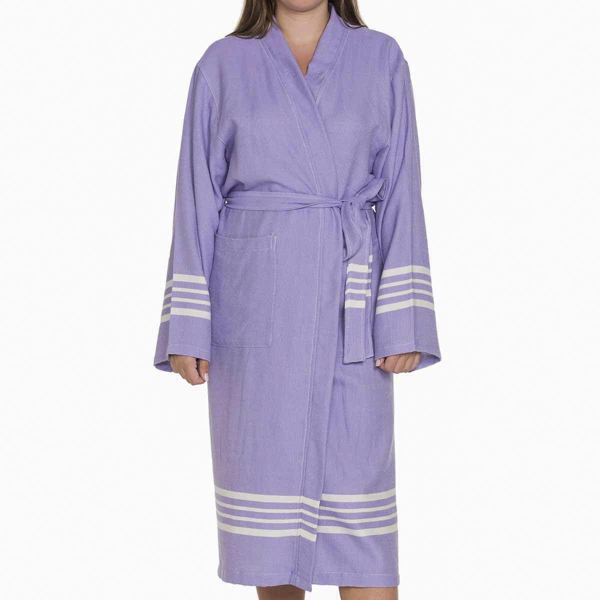 Bathrobe Sultan Kimono - Dark Lilac