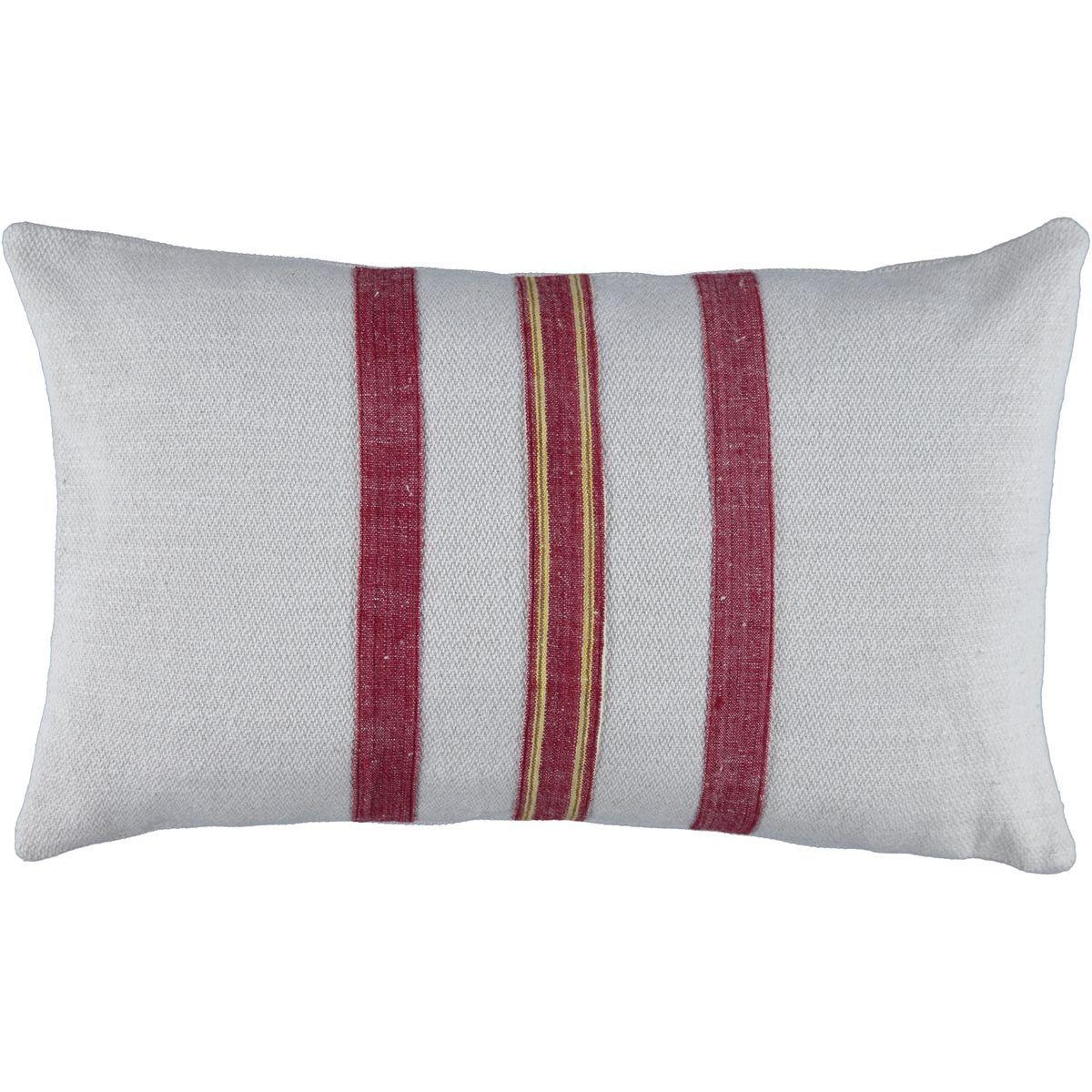 Cushion Cover / Bihter 3 - Bordeaux Stripes (50x30)