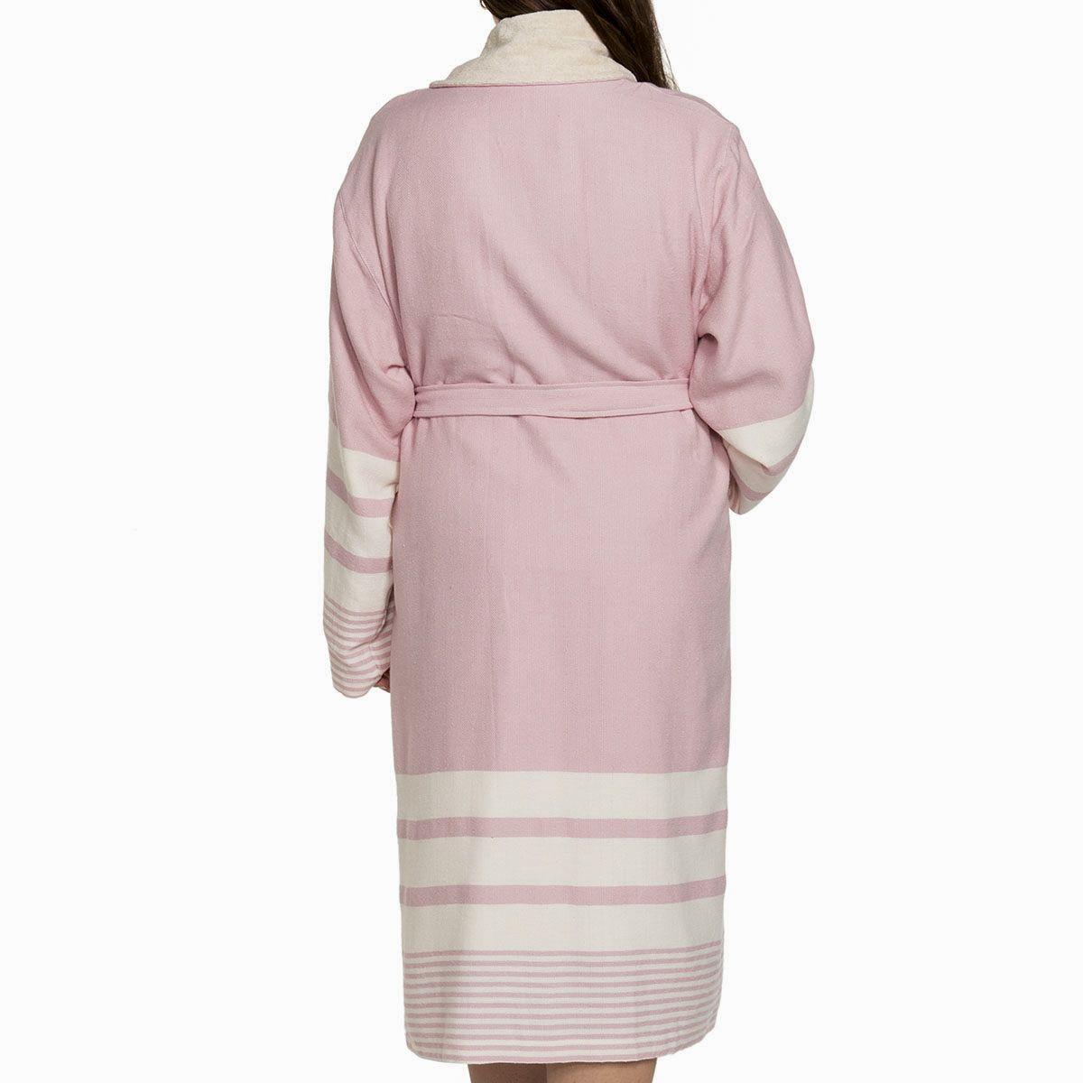Bathrobe Tabiat with towel - Rose Pink