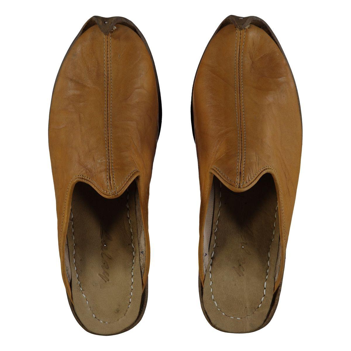 Slipper - Babouche - Leather / Handmade - Yellow