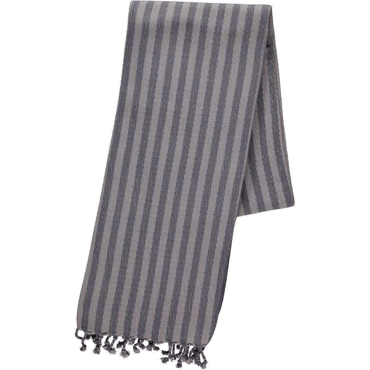 Peshtemal Mayda / Dark Grey - Light Grey