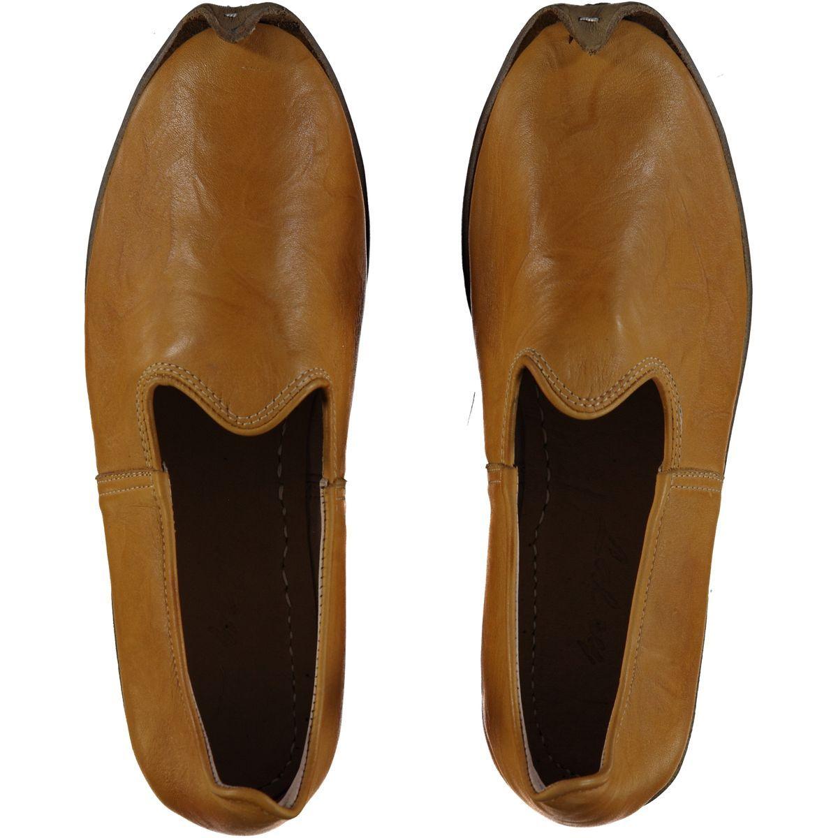 Shoe - Babouche / Leather / Handmade - Yellow