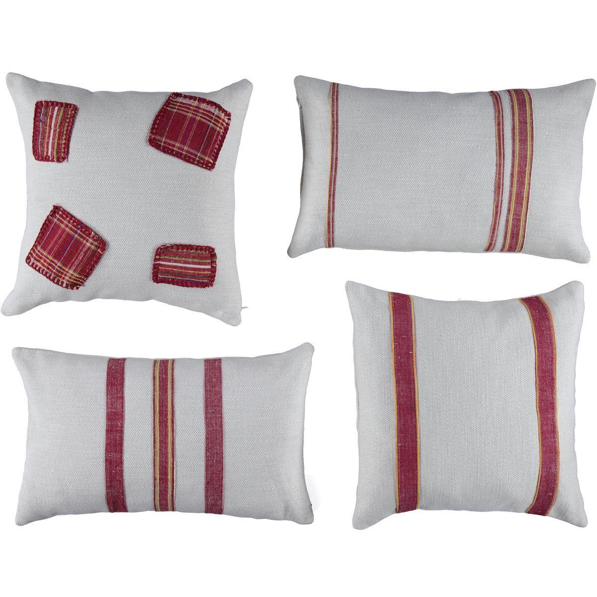 Cushion Cover / Bihter - Bordeaux Stripes