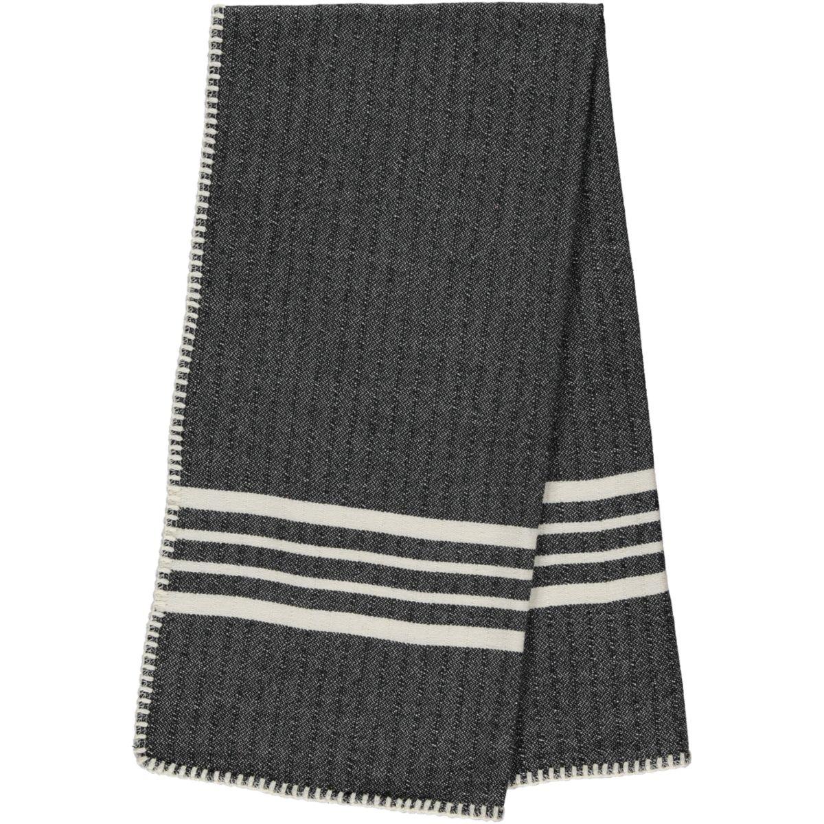 Peshtemal / Towel Sultan - Stitched / Black