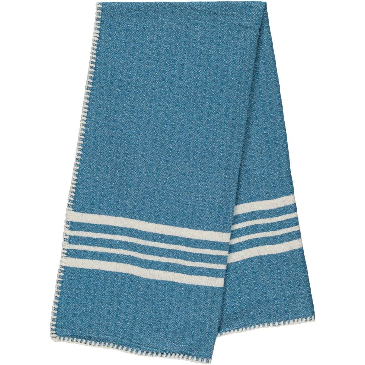 Peshtemal / Towel Sultan - Stitched / Petrol Blue