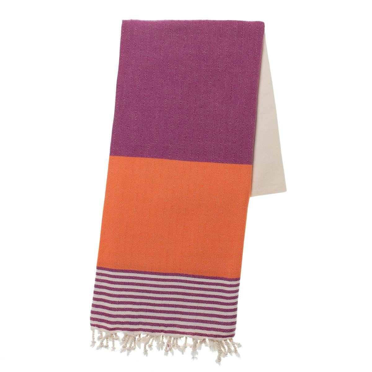 Peshtemal Twin Sultan - Light Purple / Orange