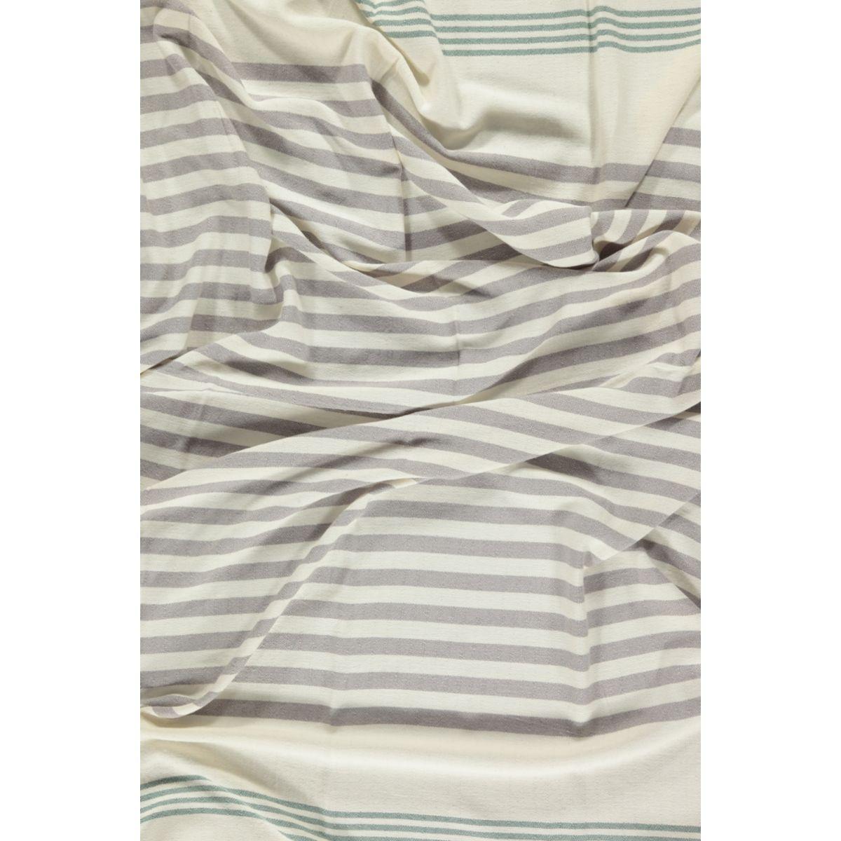 Peshtemal / Towel - Sultan FUN - Almond Green / Light Grey