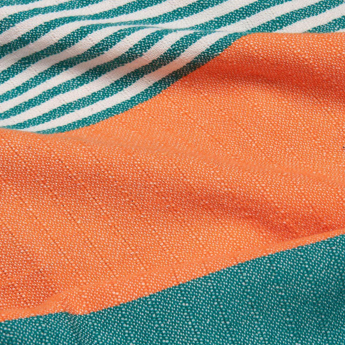 Peshtemal Twin Sultan - Fanfare Green / Orange