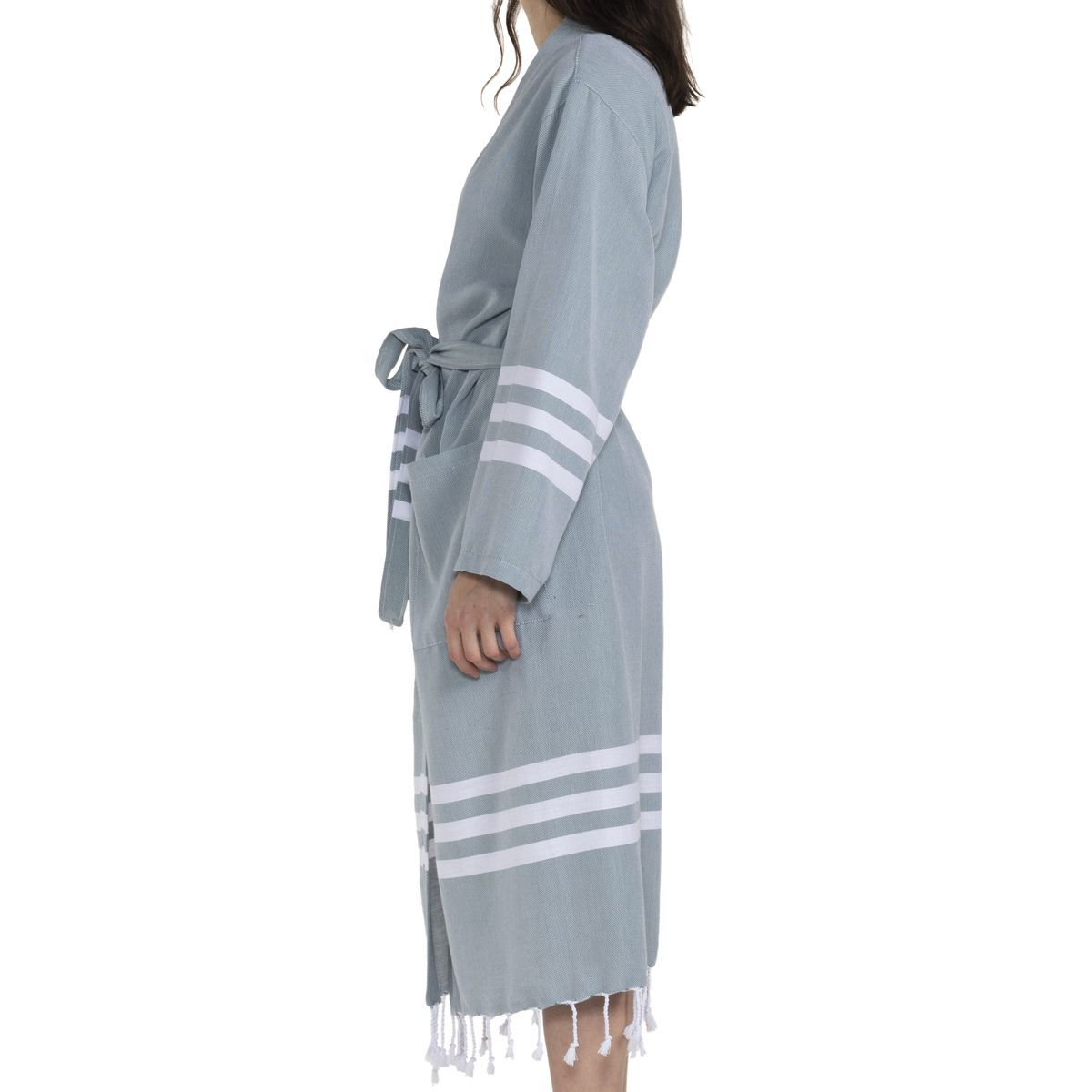 Bathrobe Bala Sultan kimono - Almond Green