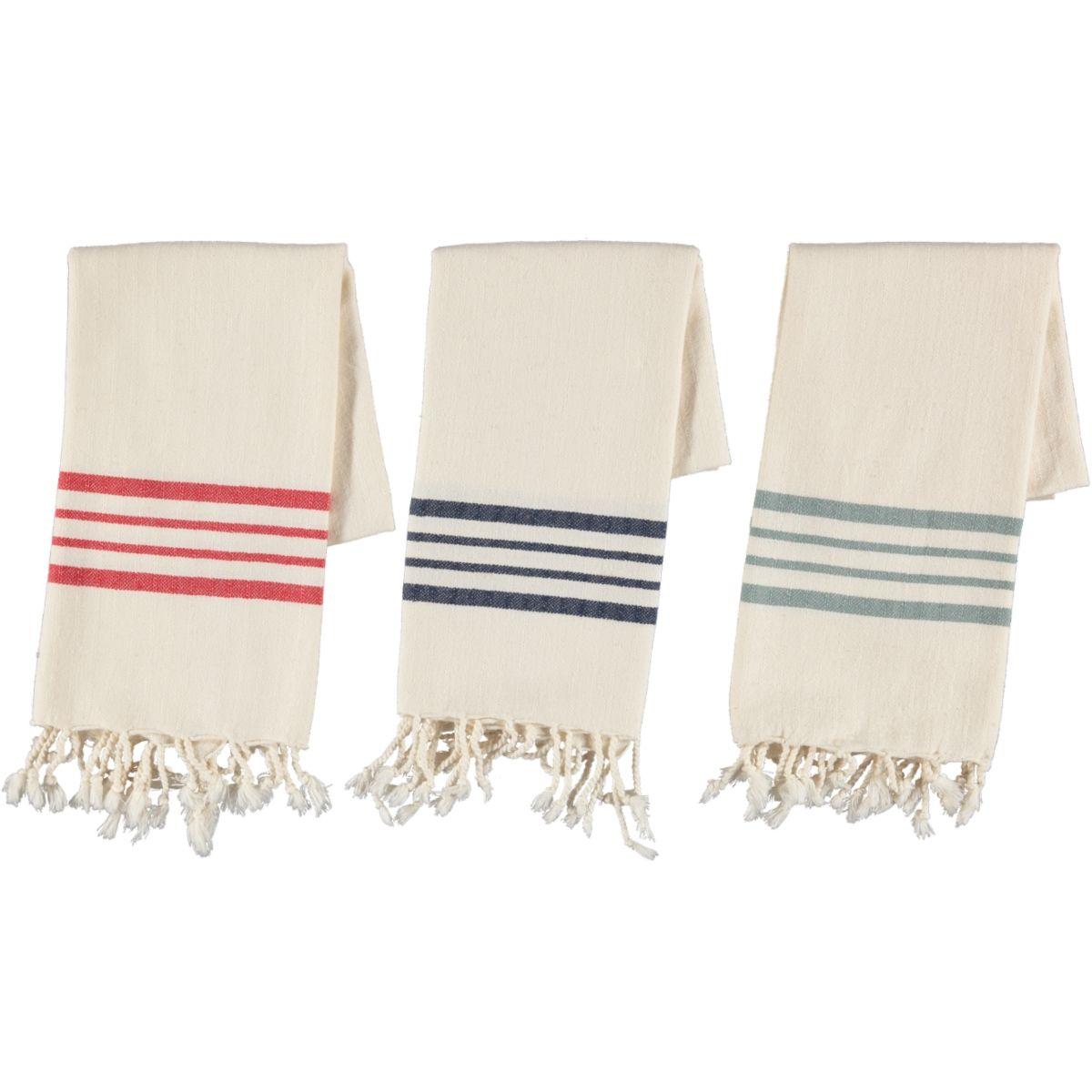 Peshkir Sultan - Almond Green Stripes