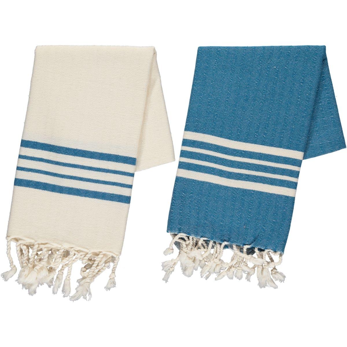 Peshkir Sultan - Petrol Blue Stripes