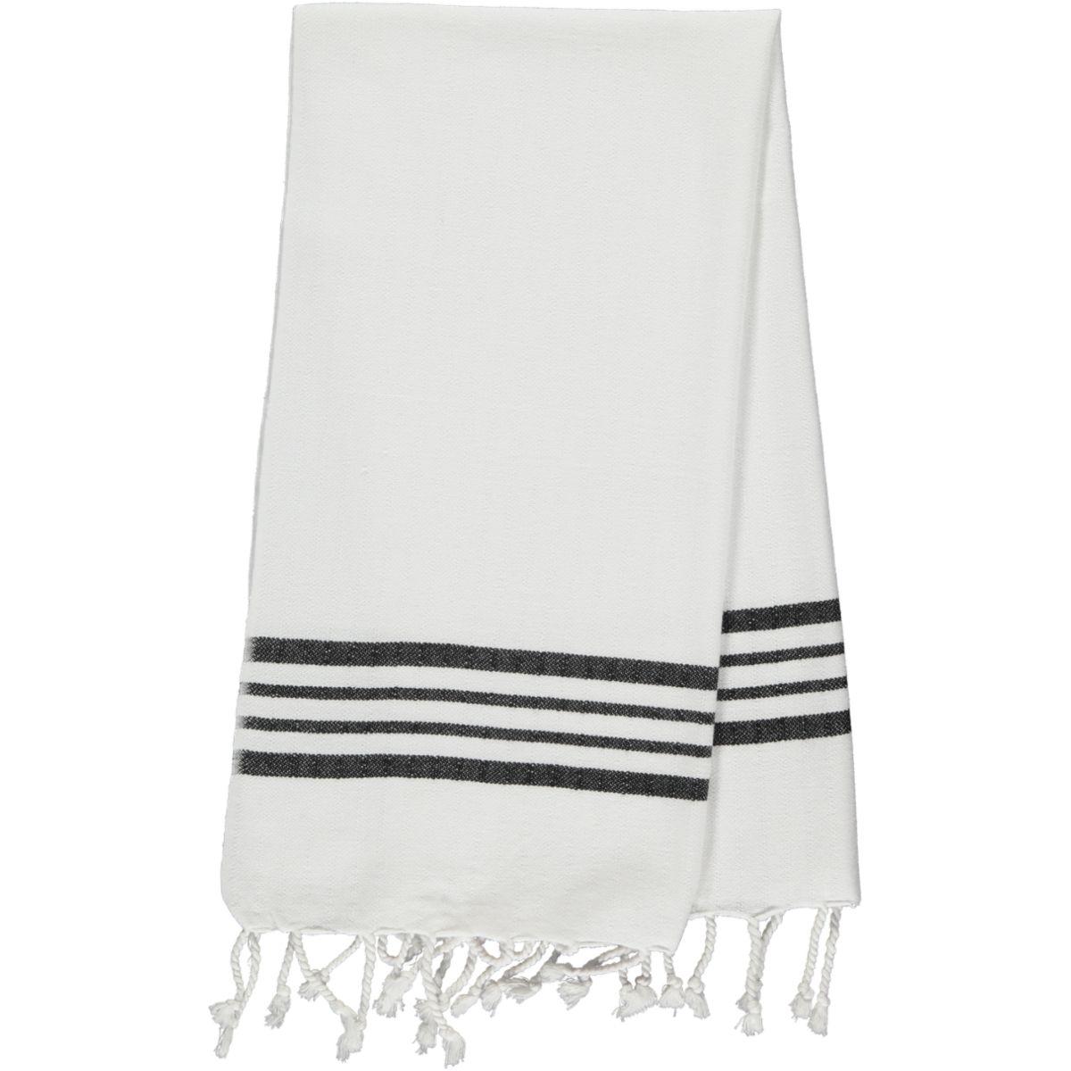 Peshkir - White Sultan / Black Stripes