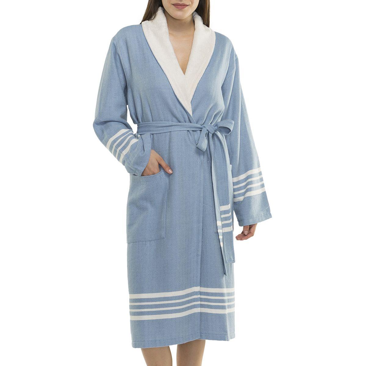 Bathrobe Sultan with towel - Air Blue