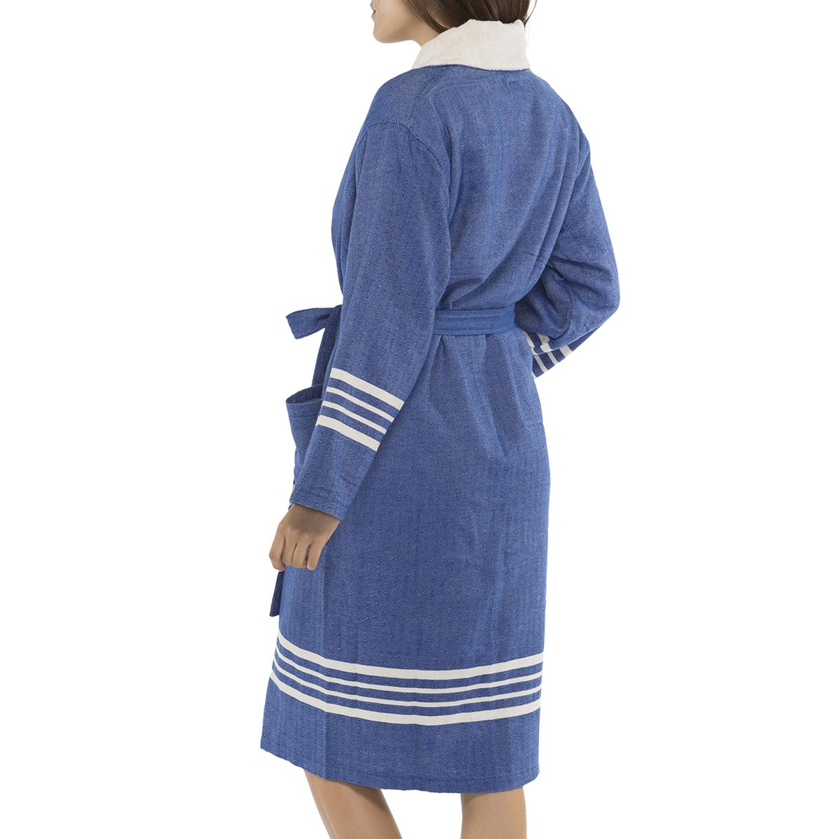 Bathrobe Sultan with towel - Royal Blue