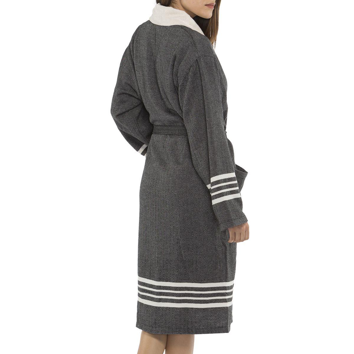Bathrobe Sultan with towel - Black