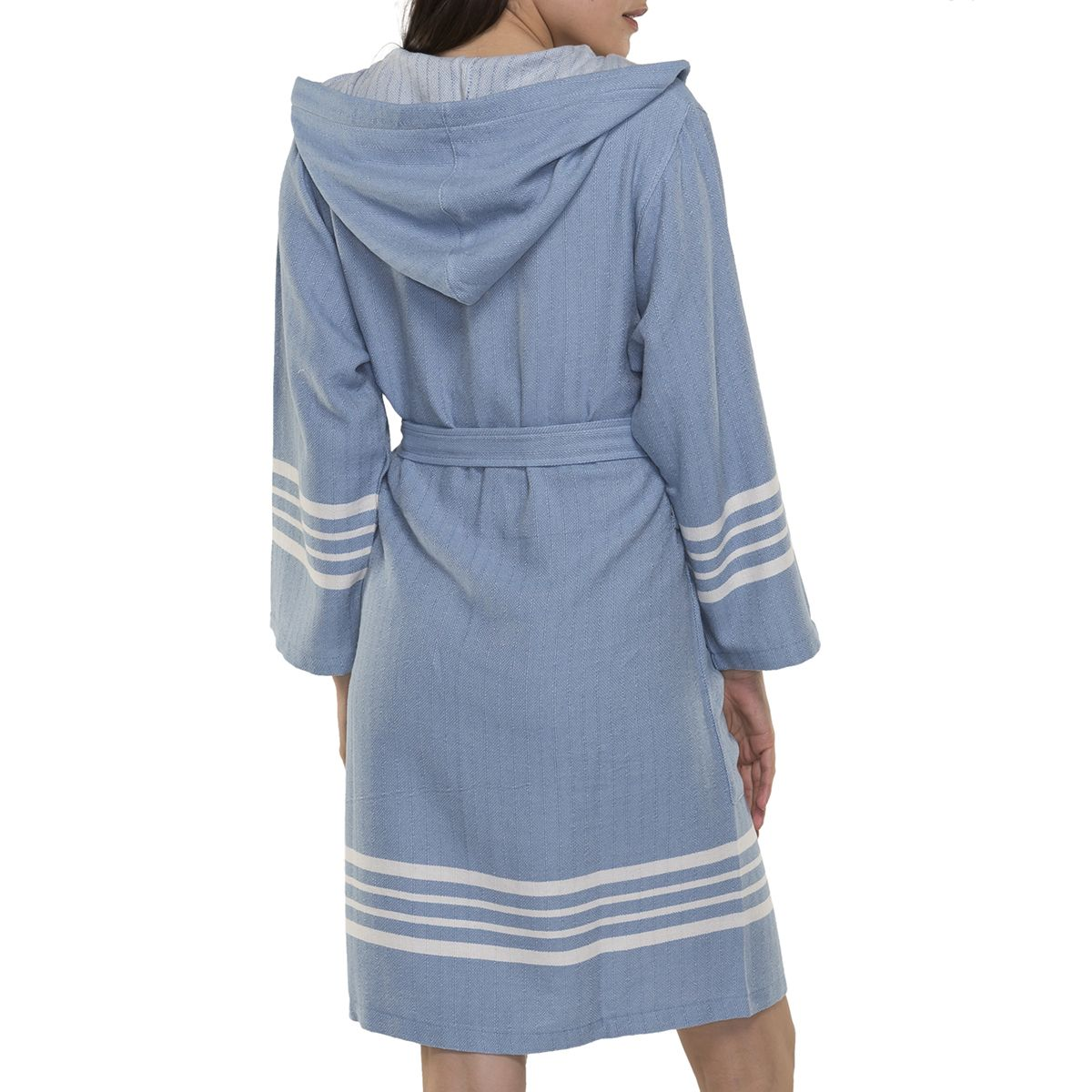 Bathrobe Sultan with hood - Air Blue