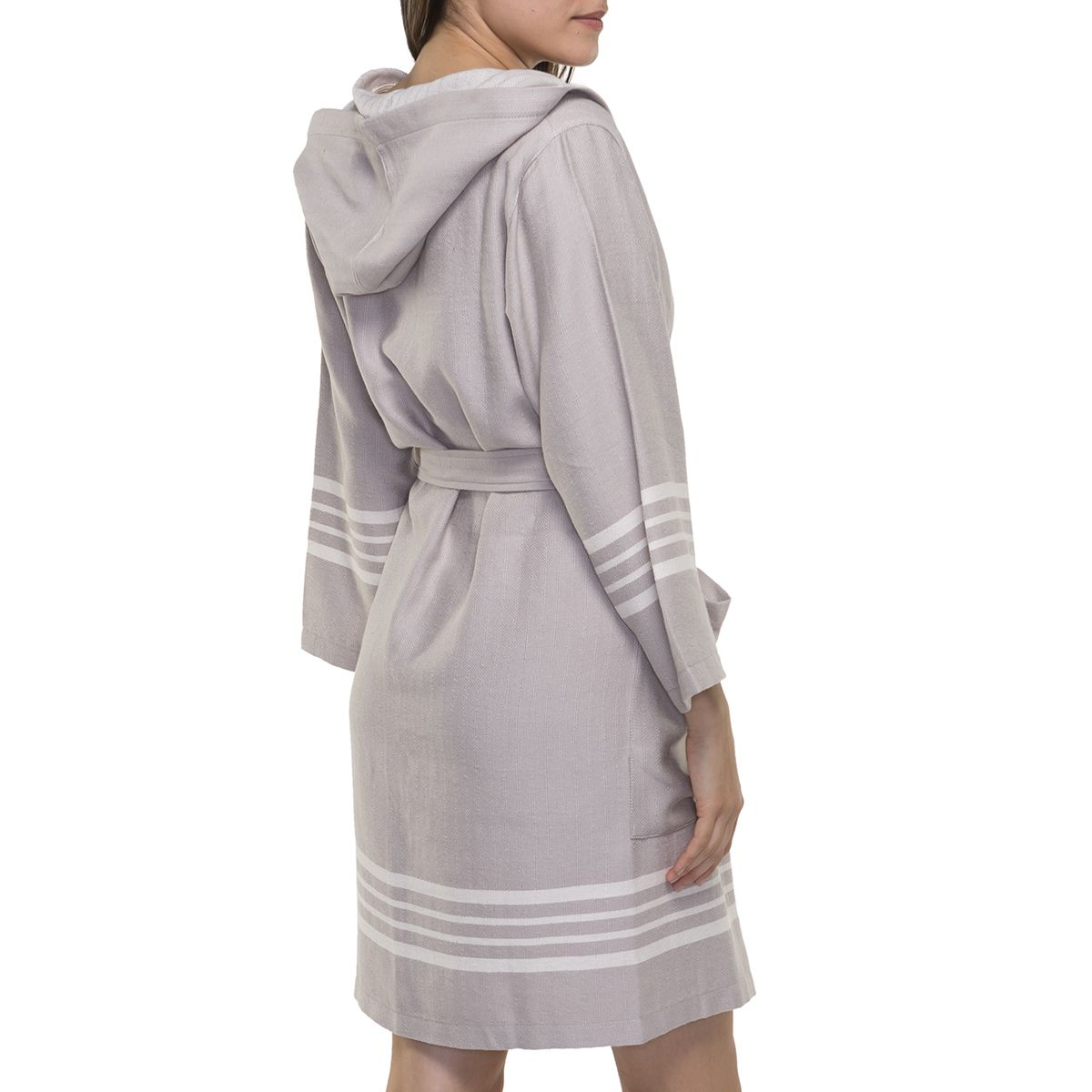 Bathrobe Sultan with hood - Taupe