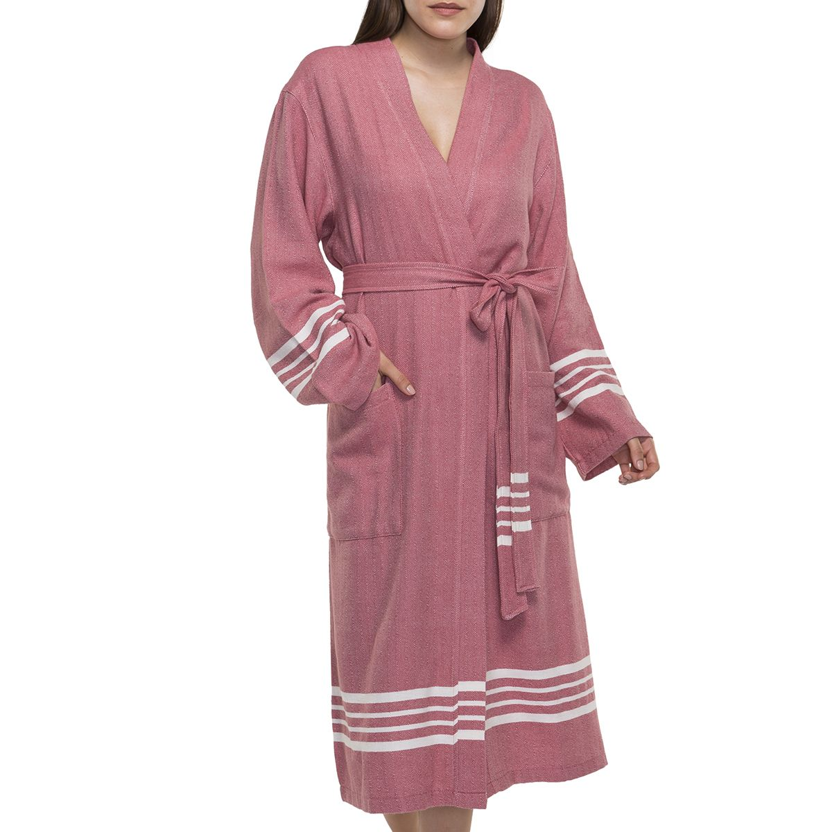 Bathrobe Sultan Kimono - Dusty Rose