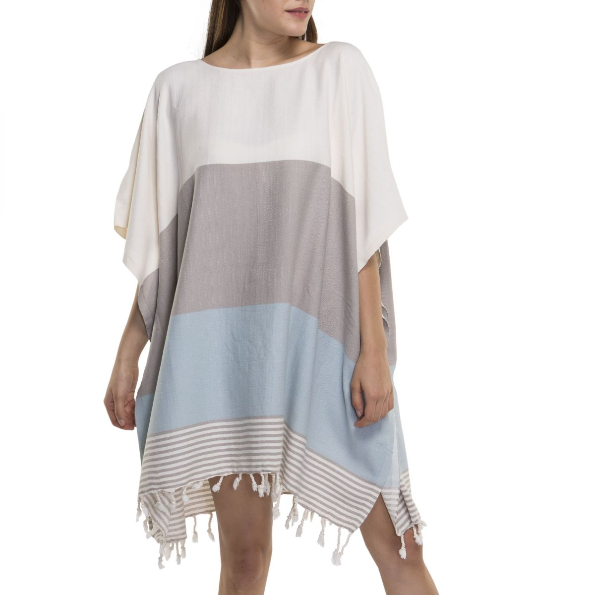 Tunic Twin Sultan - Taupe / Light Blue