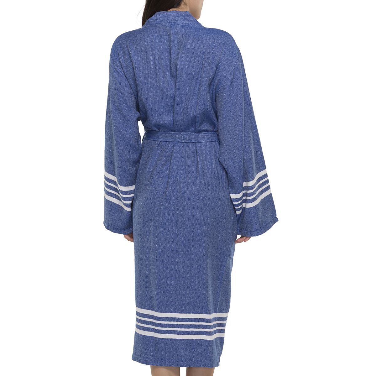 Bathrobe Sultan kimono collar - Royal Blue