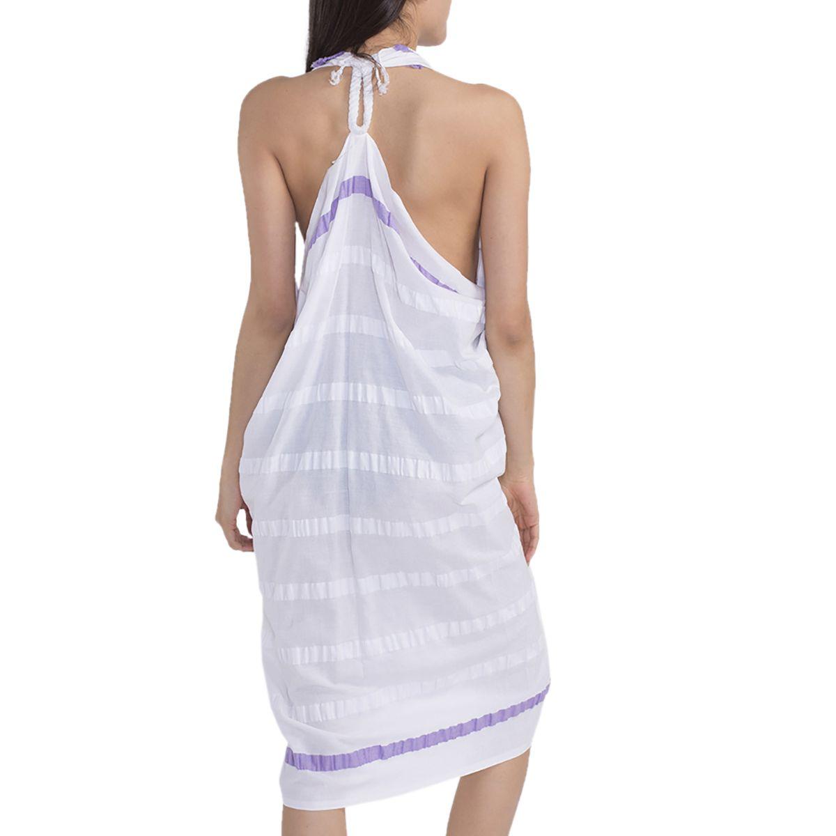 Pareo - Acacia / Dark Lilac Stripes