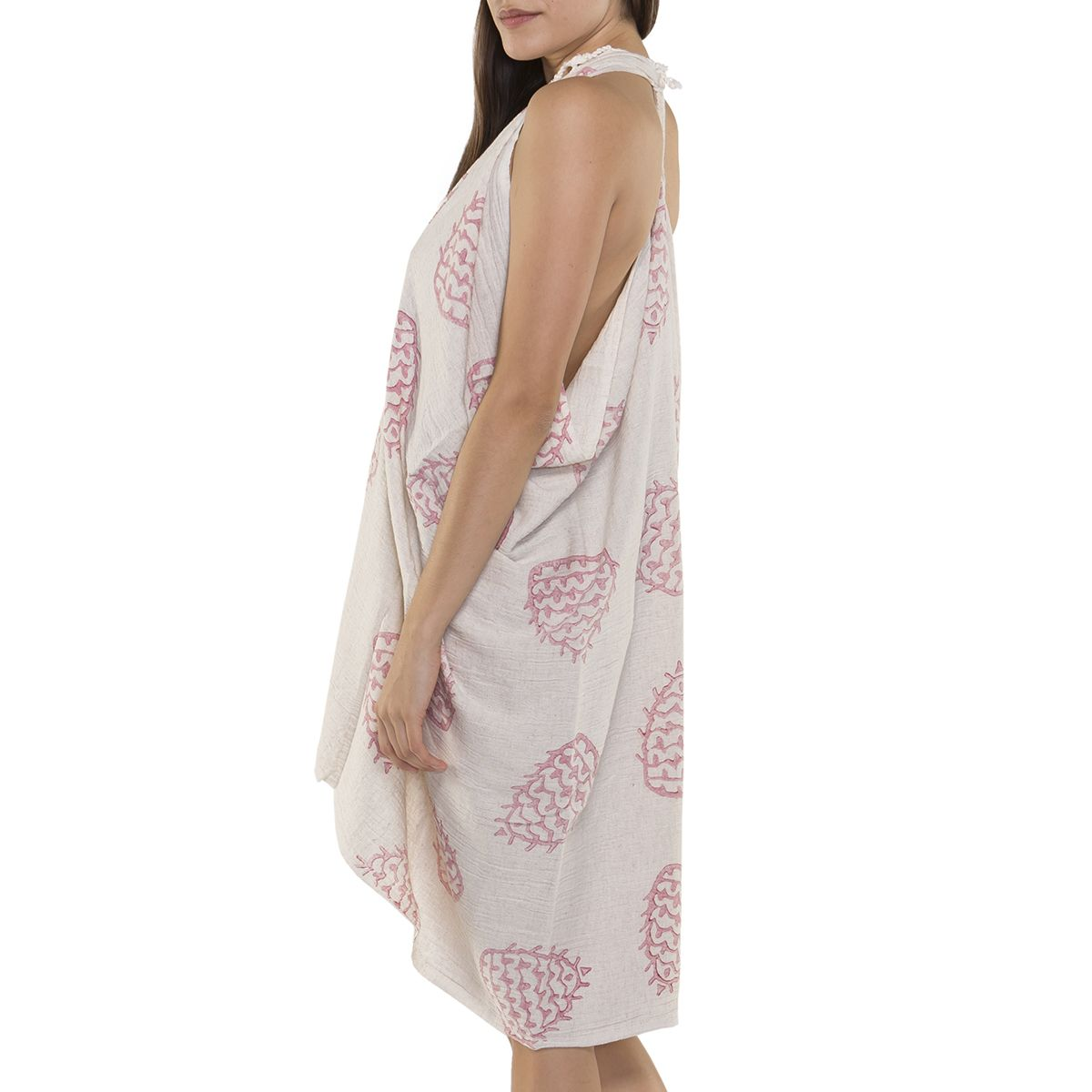 Pareo - Hand Printed 05 / Dusty Rose