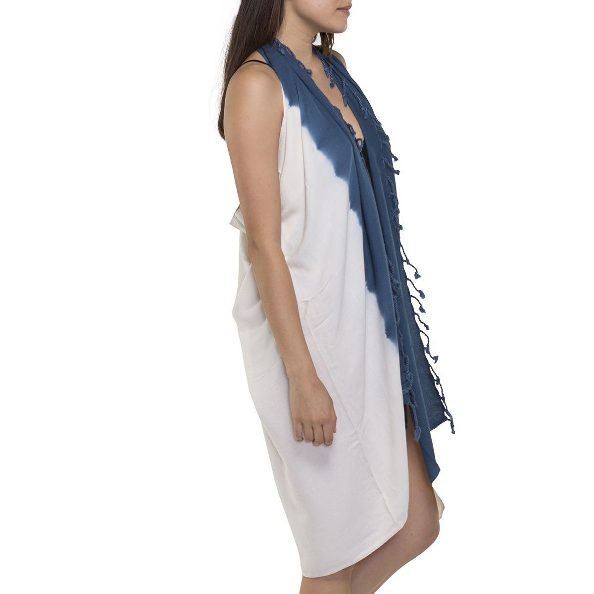 Pareo - Tie Dye / Edges Petrol Blue
