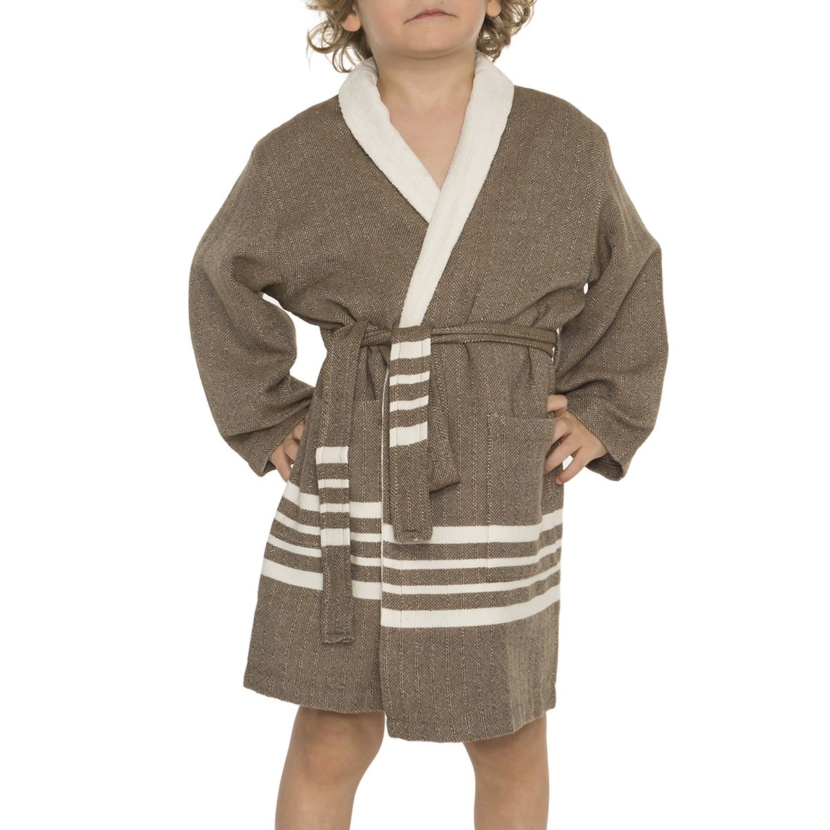 Bathrobe Kiddo Terry - Khaki