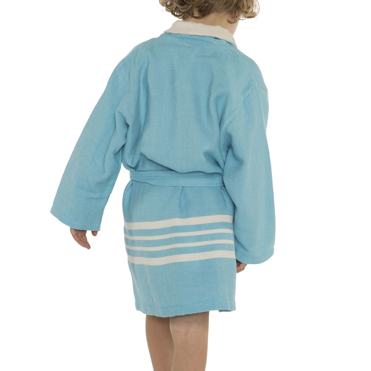 Bathrobe Kiddo Terry - Turquoise