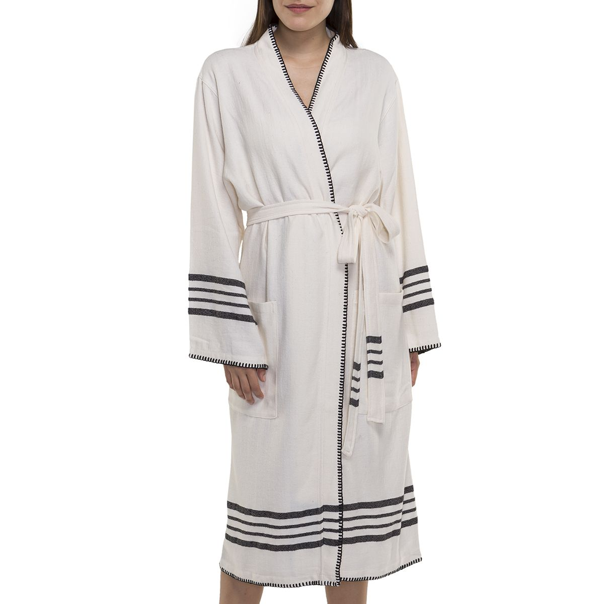 Bathrobe Coban Sultan / Black Stripes