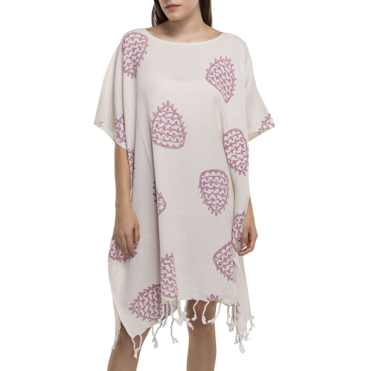 Tunic - Hand Printed 05 / Dusty Rose