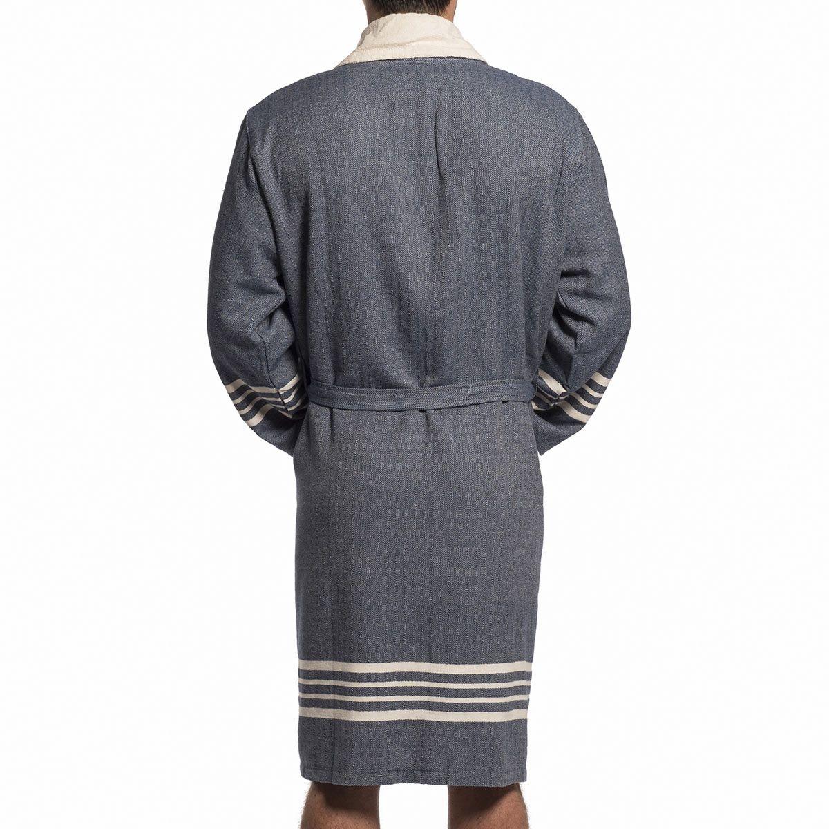 Bathrobe Sultan with towel - Navy