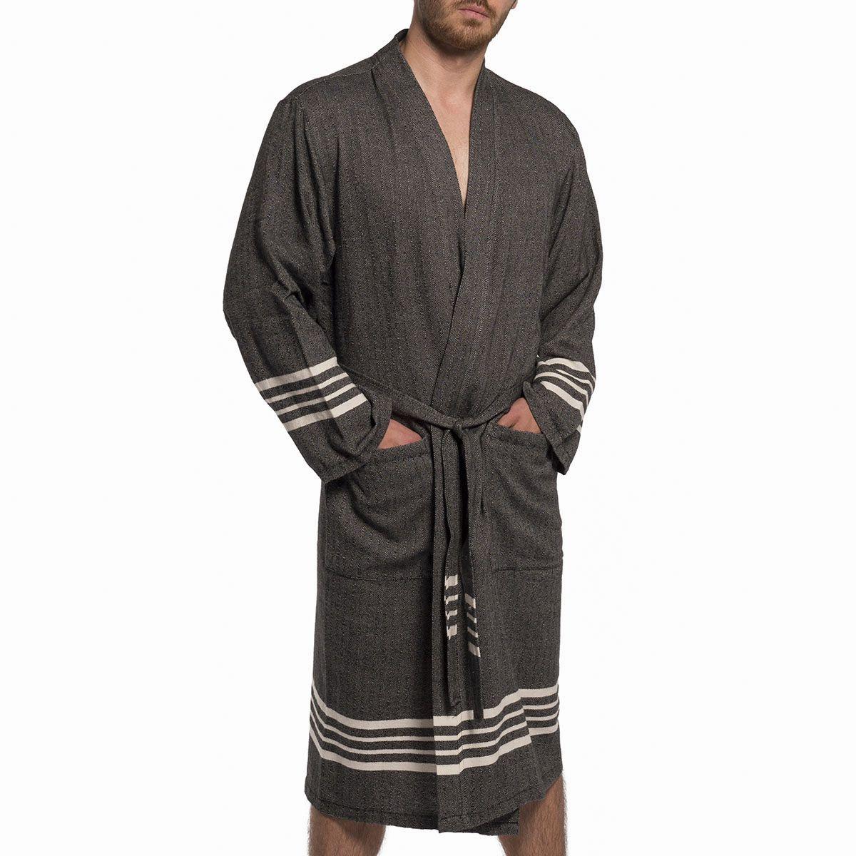 Bathrobe Sultan Kimono - Black