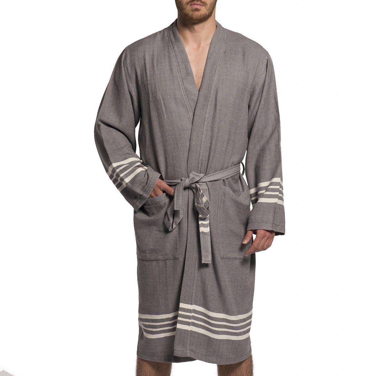 Bathrobe Sultan kimono - Dark Grey
