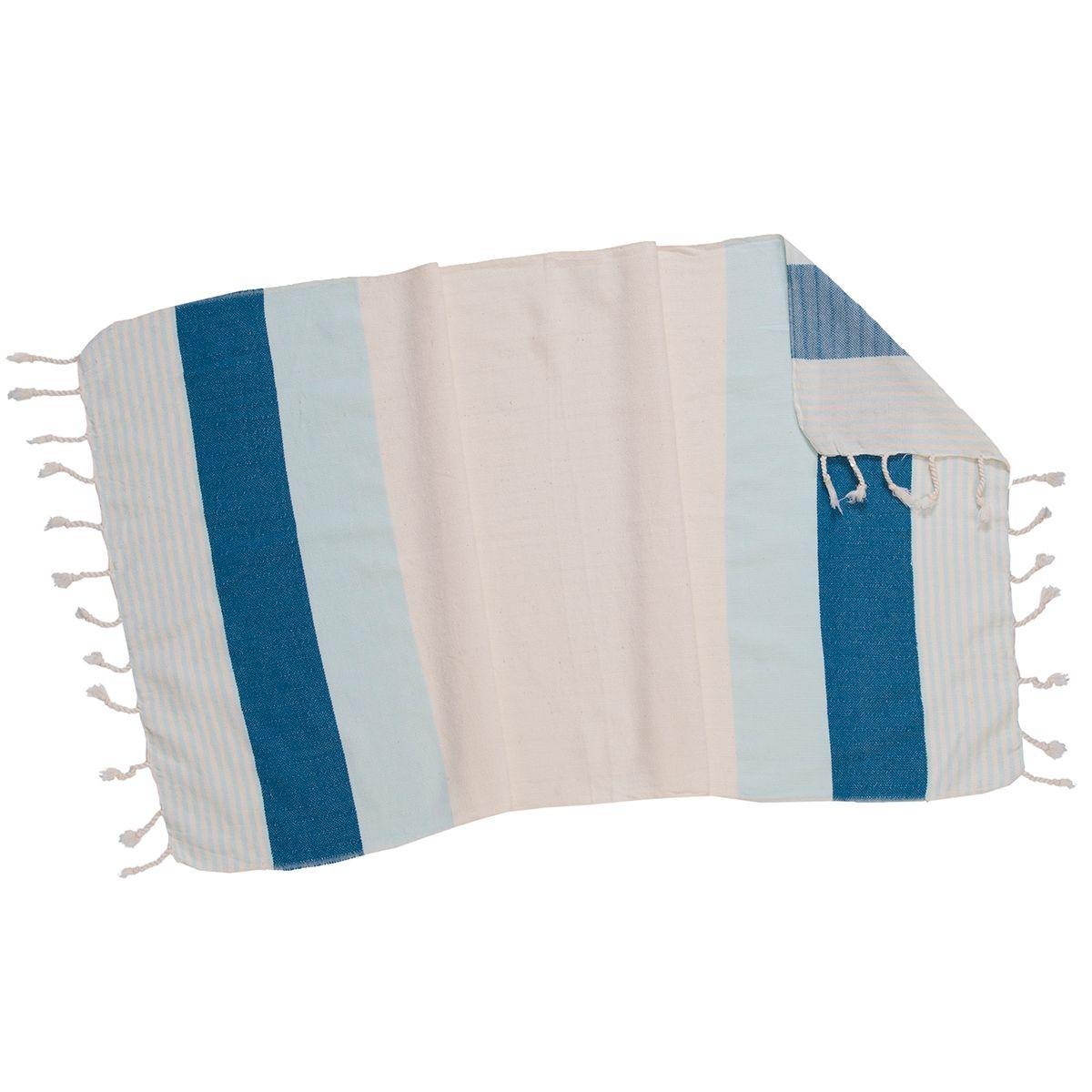 Peşkir İkiz Sultan - Buz Mavi / Petrol Mavi