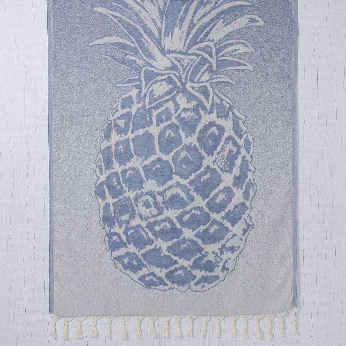 Peshtemal Pineapple - Denim Blue
