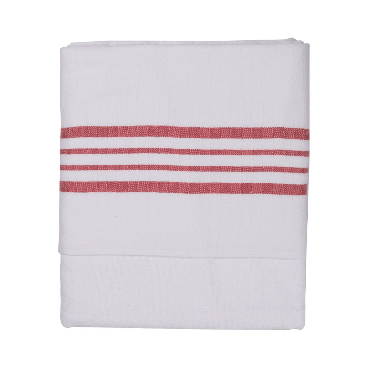 Peshtowel White Sultan - Double Face / Dusty Rose Stripes