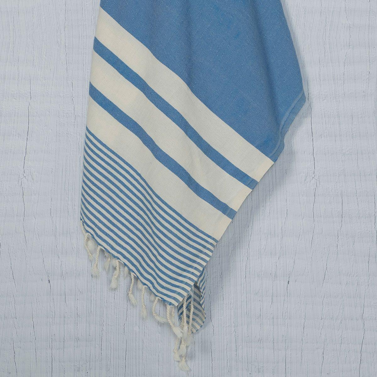 Peşkir Tabiat - Koyu Mavi